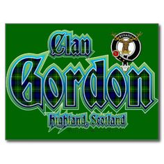 Clan Gordon Tartan Badge Postcard