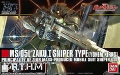 Bandai 1/144 HGUC 137 MS-05L Zaku I Sniper Type [Yonem Kirks] Scale Model #Affiliate
