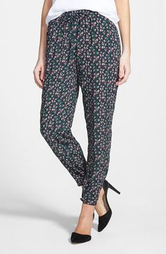 Socialite Print Woven Pants (Juniors) available at #Nordstrom