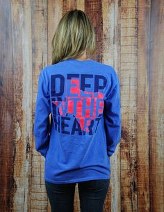 The stars at night are big and BRIGHT... Deep in the Heart of Texas! Show your love for our great state in this awesome NEW Deep In The Heart T-shirt!  Deep in the Heart - FLOBLU