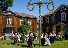 Glad Midsommar!  Note the simplicity of the architecture