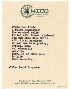 tylerknott: Typewriter Series #703 by Tyler Knott Gregson