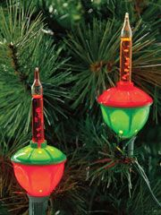 Since the 1940s, bubble lights have danced and glistened on Christmas trees and mantels and about the house reflecting the excitement of the Christmas season. These unique lamp-like lights bubble with a brilliant, sparkling colorful fluid. 7-light, indoor/outdoor, multicolored strand.