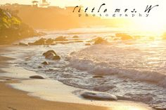 beautiful San Diego beach at sunset