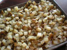 Frozen diced potatoes.