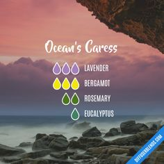 Ocean's Caress - Essential Oil Diffuser Blend this would be good for sleep on nights I'm a little stuffy or just don't feel good.