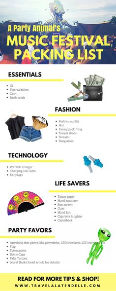 This music festival packing list not only has the basics, it'll also save you money and show you what to bring to a festival to make you very, very popular.