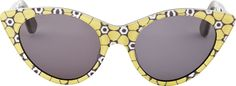 Opening Ceremony - Yellow Floral Cat Eye Sunglasses