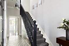 This was an interior photography shoot for ADE Architects of a residential project they had completed in Earlsfield Decoracion Vintage Chic, Alternative Flooring, Entrance Ways, London House, Carpet Stairs, Interior Photography, House Front, Old Houses, House Tours