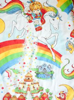 Vintage Rainbow Brite pillow case, 1983...I always wanted to be Rainbowbrite!