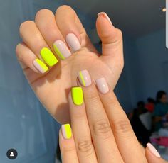 In search for some nail designs and some ideas for your nails? Listed here is our set of must-try coffin acrylic nails for modern women. Aycrlic Nails, Neon Nails, Swag Nails, Neon Nail Colors, Neon Yellow Nails, Royal Blue Nails, Neon Nail Art, Colorful Nail Art, Tribal Nails