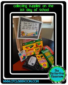 Clutter-Free Classroom: AVOID THE CHAOS OF COLLECTING SCHOOL SUPPLIES {Teacher Tio #31}