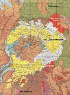 Jemez Volcanic Eruptions | Topographical rendering of a portion of the JemezMountains, Valles ...