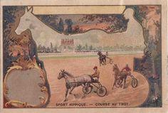 chromo chocolat l revault - sport hippique - course du trot - romanet   par patrick.marks
