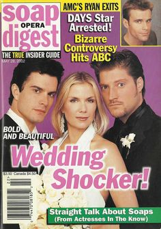 classicsodcovers:  Classic SOD Cover Date: May 28, 2002 Rick Hearst, Katherine Kelly Lang, & Sean Kanan (Whip, Brooke, & Deacon, THE BOLD & THE BEAUTIFUL)(inset) Cameron Mathison (Ryan, ALL MY CHILDREN)