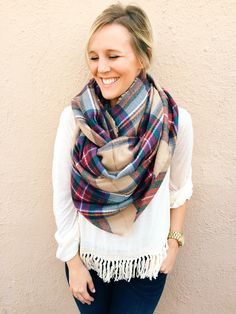 Home for the Holidays Plaid Blanket Scarf from Shop Southern Roots TX