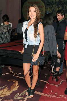 Audrina Patridge, super underdressed (Rebecca Minkoff Party)