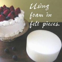 using foam in felt food
