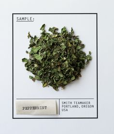 Varietal No. 45: Peppermint Leaves // It's no secret that the world's #best #peppermint comes from the #PacificNorthwest. Gently hand-screened for perfect leaf size, it infuses a full, #creamy flavor with distinct #chocolate notes and an intense finish. A great after dinner treat or midday breath freshener. #Caffeinefree.