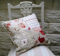 Handmade Patchwork Cushion Using Vintage by EllaJenkinsDesigns