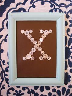 Button Monogram X