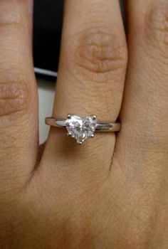 Post your heart shaped engagement rings « Weddingbee Boards - page 2 @Kelli Hylton I love love love love love it!