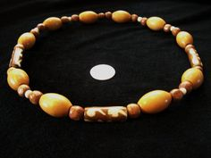 Retro Bone Beaded Necklace For Man or Woman  ONE OF A KIND  by Dare2beUNIQUE