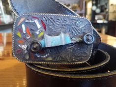 Old school Kustom Hot Rod Mosaic belt buckle by Studio11Online