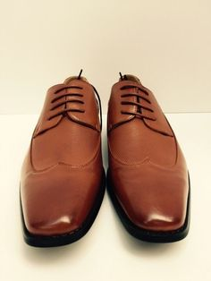 Men's Dress Shoes Tan LookLike Cognac Genuine Leather Lined Amali Sizes 8 - 9.5 #Amali #Oxfords
