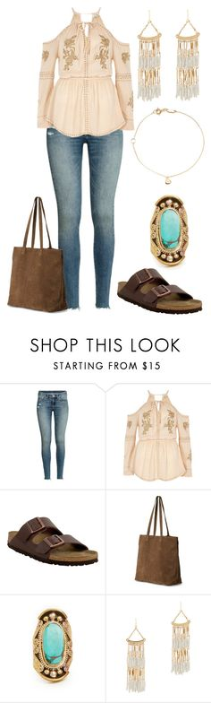 """Sans titre #5525"" by kina-ashley ❤ liked on Polyvore featuring H&M, Birkenstock, TOMS, Natalie B, ALDO and Estella Bartlett"