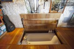 Floor Lifts to Reveal Hidden Hot Tub in this Castle Rental