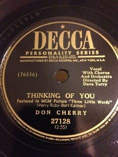 "View credits, reviews, tracks and shop for the 1950 Shellac release of ""Thinking Of You / Here In My Arms"" on Discogs. Don Cherry, Shellac, Thinking Of You, Arms, Shop, Thinking About You, Store"