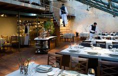 Restaurante Tragaluz. Cocina mediterránea. Restaurante de diseño en el centro de Barcelona.