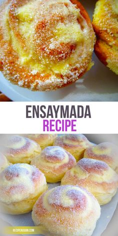 Recipe Filipino Sweet Buns This Ensaymada recipe includes flour cheese butter honey salt water white sugar and cheddar cheese in its list of ingredients With these kind o. Filipino Desserts, Asian Desserts, Dessert Recipes, Filipino Food, Pinoy Dessert, Filipino Dishes, Easy Filipino Recipes, Hawaiian Desserts, Leche Flan