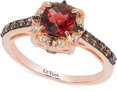 Le Vian Le Vian Petite Collection Garnet (1-1/6 ct. t.w.) and Chocolate Diamond (3/8 ct. t.w.) Ring in 14k Rose Gold {Affiliate} @Dashing Galleria