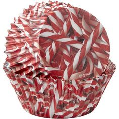 Candy Cane Cupcake Liners