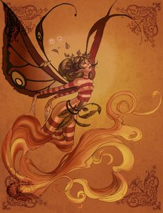 """Faery Elementals: Fox Fire"" by Annie Rodrigue"