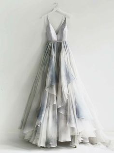 On Sale Colorful Backless Prom Dresses, A-Line Spaghetti Straps Backless Silver Prom Dress With Ruffles Pretty Dresses, Beautiful Dresses, Unique Formal Dresses, Elegant Dresses, Fashion Clothes, Fashion Dresses, Dresses Dresses, Fall Dresses, Summer Dresses