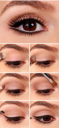 Tricks to eyeliner apply, see here https://mymakeupideas.com/how-to-apply-eyeliner-tips-and-ideas/