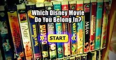 Take our personality test to find out which Disney movie you could walk on screen and fit right in! I got lilo and stitch! YESSSSSS!!!!!!!!