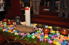 Interactive Prayer Stations - this links to a whole range of interactive prayer ideas and themes which have been tried in a congregation that is consciously trying to engage in intergenerational worship.