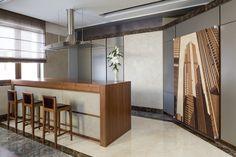 Современный Ар-Деко: дерево, бетон и мрамор - Кухня в современном стиле | PINWIN…
