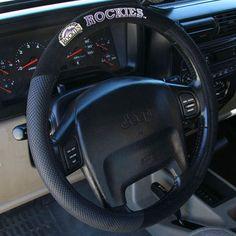 Colorado Rockies Poly-Suede Steering Wheel Cover - $14.99