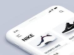 Product Page Opening Interaction sport sports animations nike ios 11 product page category page xd list iphonex shoes ecommerce Web Design, What Is Ui Design, App Ui Design, Mobile App Design, User Interface Design, Store Design, Mobile Ui, Iphone App Design, Iphone App Layout