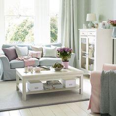duck egg blue, white & grey living-room