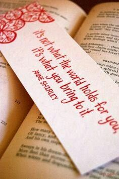 Quote / Anne Shirley, bookmark.