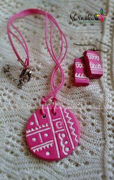 BABY PINK Handmade Terracotta Jewelry simple and by Varnakala