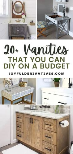 Update your style, and maximize space by addind a vanity to your closet or bathroom. You can easily DIY your own vanity on a budget with one of these 20+ ideas. Take advantage of a small corner or unused space with a beautiful, functional vanity.