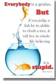 Stop Making Your Own Fish Climb That Tree Self Esteem Activities