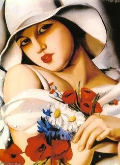 In the middle of summer by Tamara De Lempicka (1898-1980, Poland)